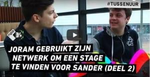 DoneerJeNetwerk (NDT'17) – 3fm-DJ Joram Kaat helpt Sander aan een stage