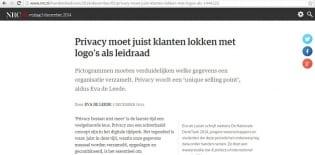 Opinieartikel van deelnemer Eva de Leede in NRC Handelsblad