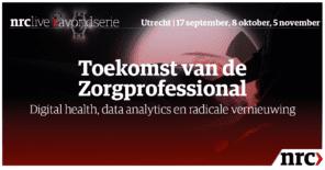 DenkTankers Karima en Martijn (NDT'19) op podium NRC Live event 'De Toekomst van de Zorgprofessional'