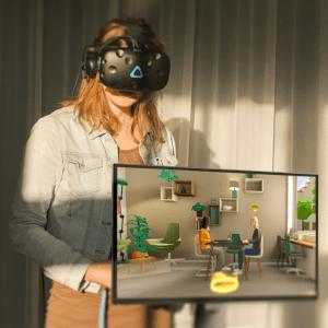 Voorbeeld VR bril opstelling