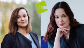 Lena Hartog (NDT'17) en Rozanne Henzen (NDT'18) in DJ100!